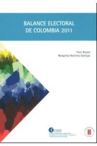 balance-electoral-de-colombia-2011-9789587384864-uros