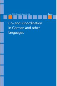 bw-co-and-subordination-in-german-and-other-languages-helmut-buske-verlag-9783875489576