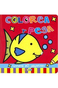 Colorea Y Pega Rojo Dibujo Grande