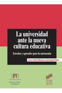 Universidad Ante Nueva Cultura Educativa