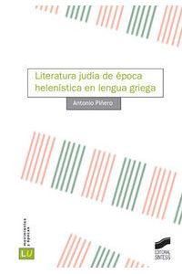 Literatura Judia De Epoca Helenistica En Lengua Griega