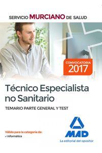 Tecnico Especialista No Sanitario Del Servicio Murciano De S