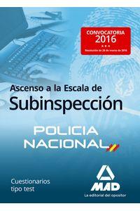 Ascenso A La Escala De Subinspeccion De La Policia Nacional.