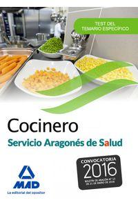Cocinero Del Servicio Aragones De Salud. Test Del Temario Es