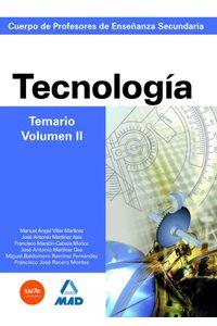Temario Tecnologia II Profesores Secundaria