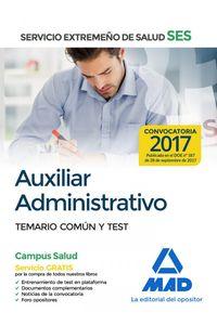 Auxiliar Administrativo Ses 2017 Temario Comun Y Test