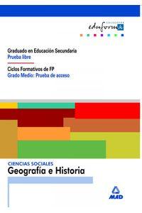 Ciencias Sociales Geo./Ha.grad.eso Prue.acc.libre