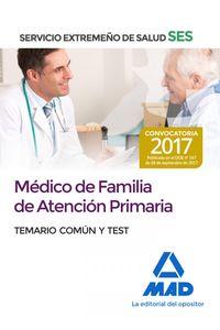 Medicos Familia Atencion Primaria Ses Temario Comun 2017