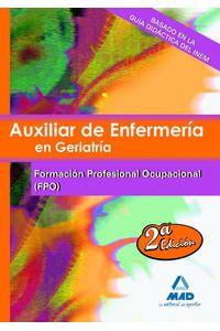 Auxiliar Enfermeria En Geriatria Temario Fp Ocupacional