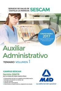 Auxiliar Administrativo Servicio Salud C Mancha Vol I Sescam