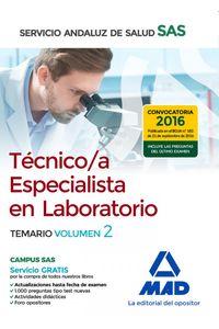 Tecnico/A Especialista Laboratorio Sas Vol 2