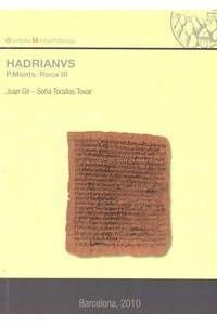 Hadrianvs P.monts. Roca III