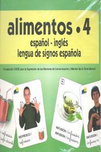 Alimentos 4 Baraja Español/Ingles Signos Alimentos 4 Baraja Español/Ingles Signos