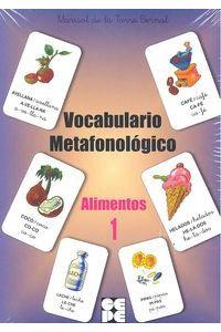 Alimentos 1 Vocabulario Metafonologico