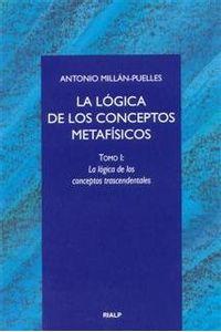 Logica De Los Conceptos Metafisicos. I. La Logica De Los Con