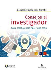 lib-consejos-al-investigador-guia-practica-para-hacer-una-tesis-ril-editores-9789562845052