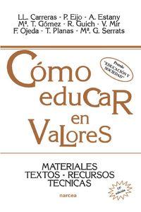 lib-como-educar-en-valores-narcea-9788427716643