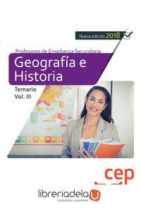 ag-geografia-e-historia-cuerpo-de-profesores-de-ensenanza-secundaria-temario-iii-editorial-cep-sl-9788417625818